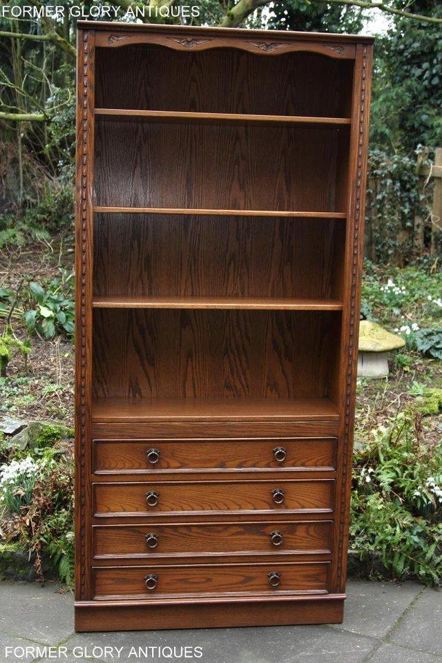 Image 11 of JAYCEE OLD CHARM OPEN BOOKCASE CHEST OF DRAWERS CD SHELVES