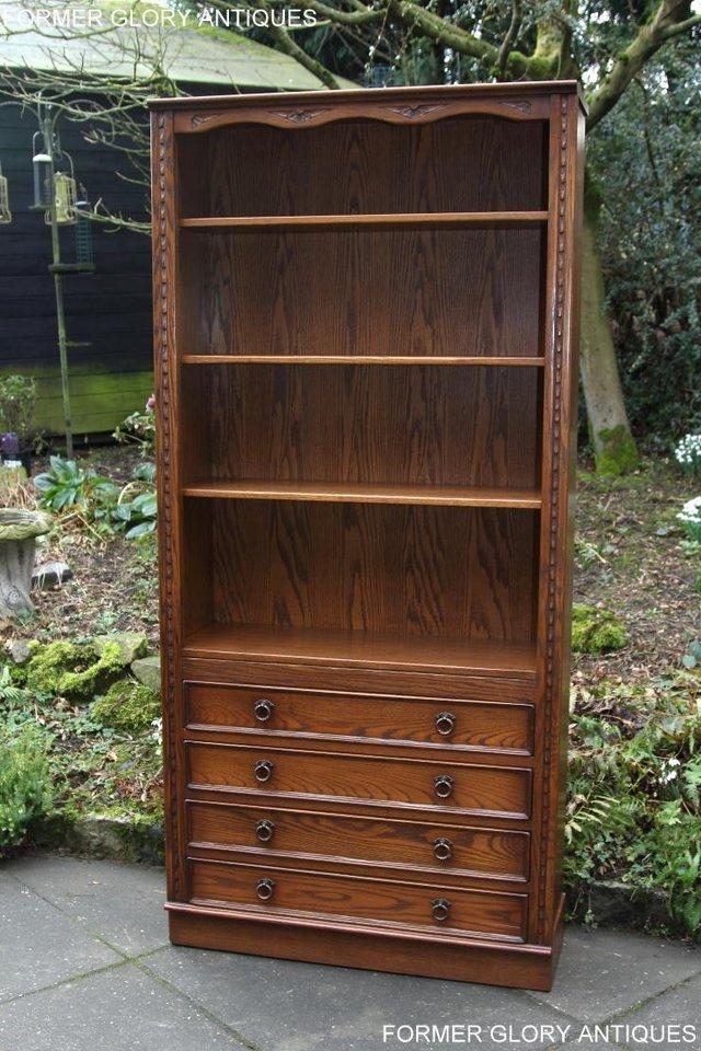 Image 13 of JAYCEE OLD CHARM OPEN BOOKCASE CHEST OF DRAWERS CD SHELVES