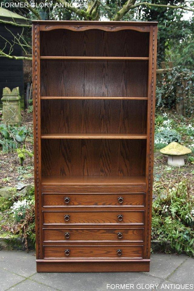 Image 16 of JAYCEE OLD CHARM OPEN BOOKCASE CHEST OF DRAWERS CD SHELVES