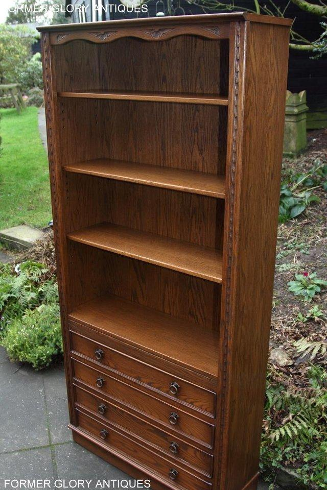 Image 18 of JAYCEE OLD CHARM OPEN BOOKCASE CHEST OF DRAWERS CD SHELVES