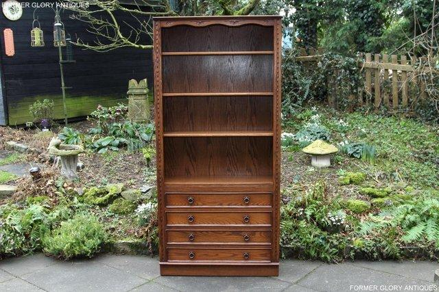 Image 25 of JAYCEE OLD CHARM OPEN BOOKCASE CHEST OF DRAWERS CD SHELVES