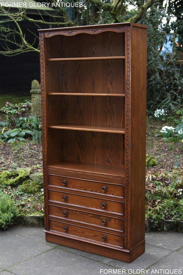 Image 32 of JAYCEE OLD CHARM OPEN BOOKCASE CHEST OF DRAWERS CD SHELVES
