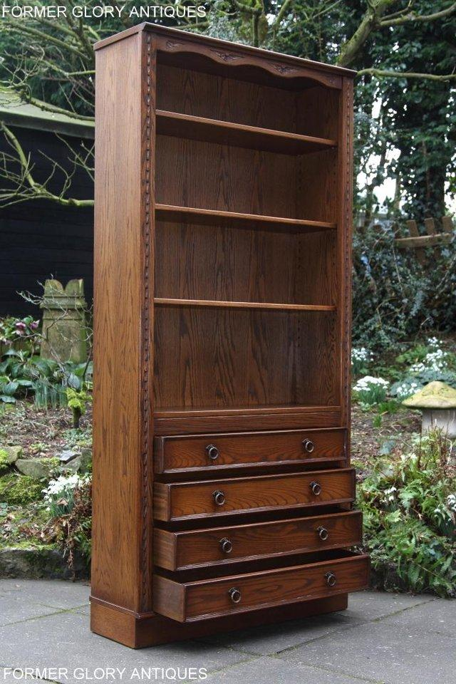 Image 37 of JAYCEE OLD CHARM OPEN BOOKCASE CHEST OF DRAWERS CD SHELVES