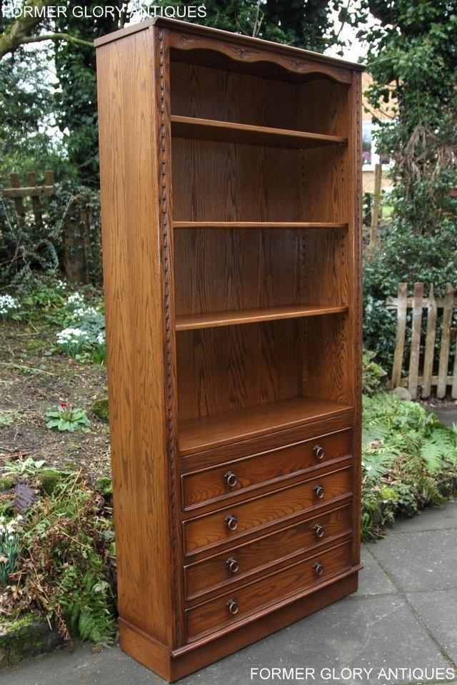 Image 54 of JAYCEE OLD CHARM OPEN BOOKCASE CHEST OF DRAWERS CD SHELVES