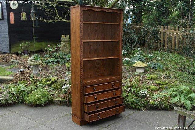 Image 63 of JAYCEE OLD CHARM OPEN BOOKCASE CHEST OF DRAWERS CD SHELVES