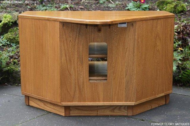 Image 10 of ERCOL WINDSOR LIGHT ELM CORNER TV CABINET STAND TABLE UNIT