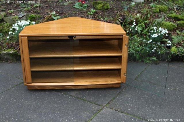 Image 12 of ERCOL WINDSOR LIGHT ELM CORNER TV CABINET STAND TABLE UNIT