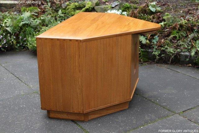 Image 16 of ERCOL WINDSOR LIGHT ELM CORNER TV CABINET STAND TABLE UNIT