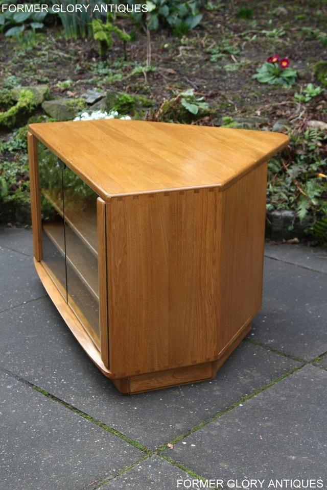 Image 17 of ERCOL WINDSOR LIGHT ELM CORNER TV CABINET STAND TABLE UNIT