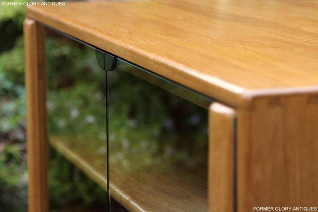 Image 19 of ERCOL WINDSOR LIGHT ELM CORNER TV CABINET STAND TABLE UNIT