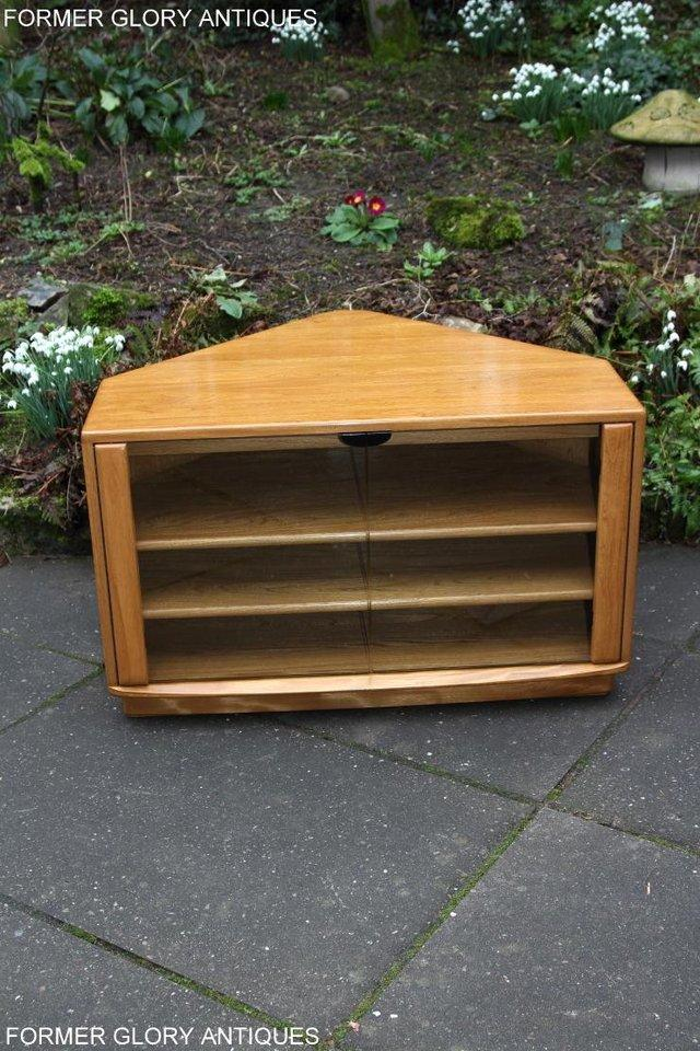 Image 22 of ERCOL WINDSOR LIGHT ELM CORNER TV CABINET STAND TABLE UNIT