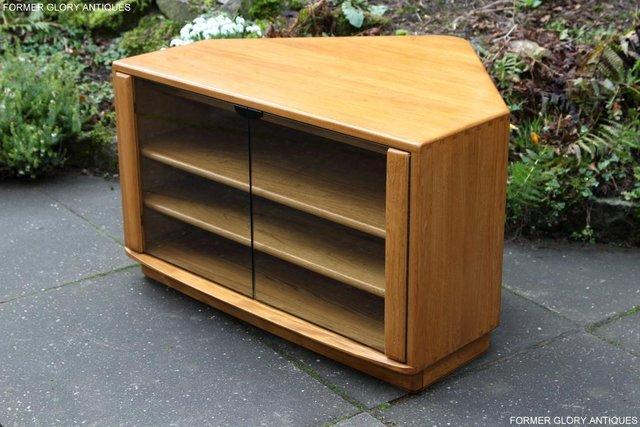 Image 23 of ERCOL WINDSOR LIGHT ELM CORNER TV CABINET STAND TABLE UNIT