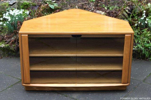 Image 27 of ERCOL WINDSOR LIGHT ELM CORNER TV CABINET STAND TABLE UNIT