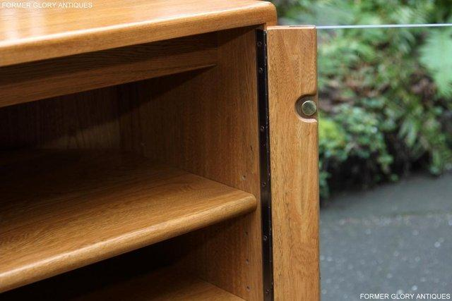 Image 28 of ERCOL WINDSOR LIGHT ELM CORNER TV CABINET STAND TABLE UNIT