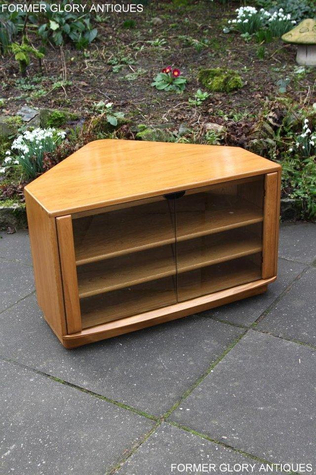 Image 30 of ERCOL WINDSOR LIGHT ELM CORNER TV CABINET STAND TABLE UNIT