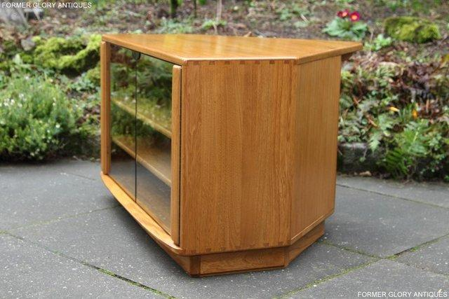 Image 34 of ERCOL WINDSOR LIGHT ELM CORNER TV CABINET STAND TABLE UNIT