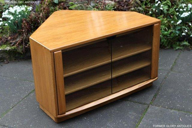Image 35 of ERCOL WINDSOR LIGHT ELM CORNER TV CABINET STAND TABLE UNIT
