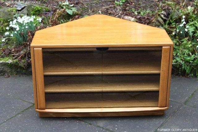 Image 36 of ERCOL WINDSOR LIGHT ELM CORNER TV CABINET STAND TABLE UNIT
