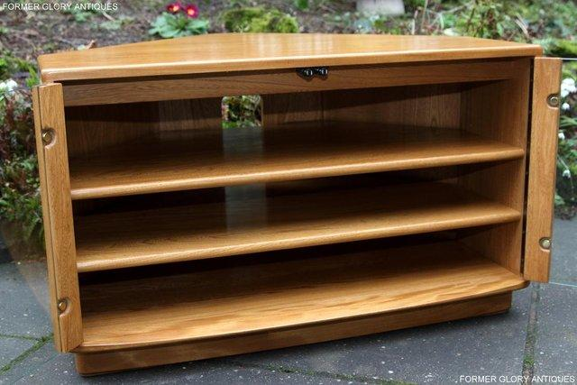 Image 37 of ERCOL WINDSOR LIGHT ELM CORNER TV CABINET STAND TABLE UNIT