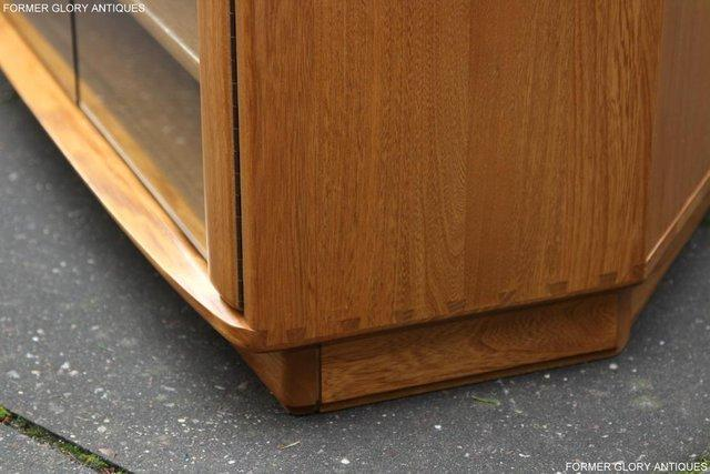 Image 44 of ERCOL WINDSOR LIGHT ELM CORNER TV CABINET STAND TABLE UNIT