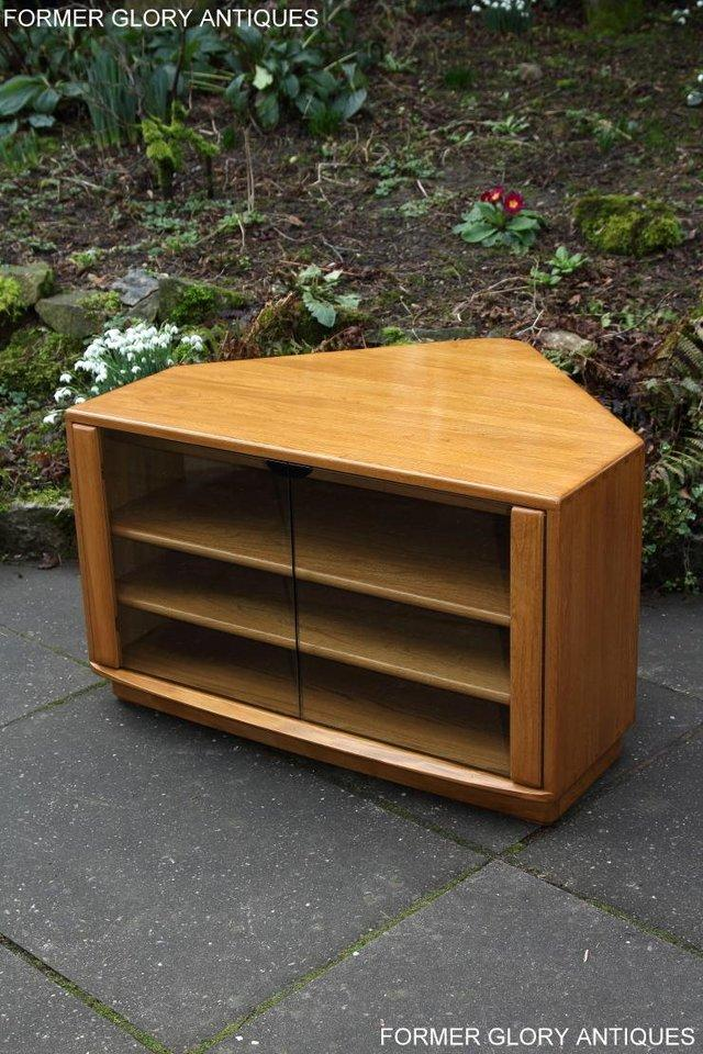 Image 49 of ERCOL WINDSOR LIGHT ELM CORNER TV CABINET STAND TABLE UNIT
