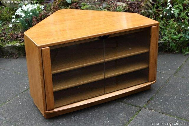 Image 50 of ERCOL WINDSOR LIGHT ELM CORNER TV CABINET STAND TABLE UNIT
