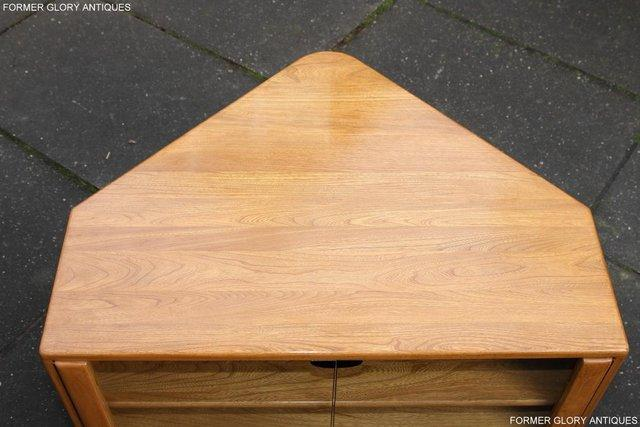 Image 52 of ERCOL WINDSOR LIGHT ELM CORNER TV CABINET STAND TABLE UNIT