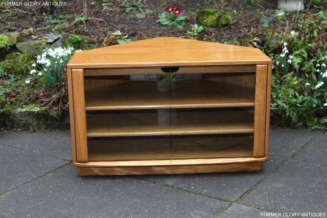 Image 54 of ERCOL WINDSOR LIGHT ELM CORNER TV CABINET STAND TABLE UNIT