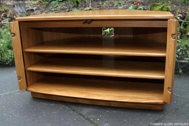 Image 57 of ERCOL WINDSOR LIGHT ELM CORNER TV CABINET STAND TABLE UNIT