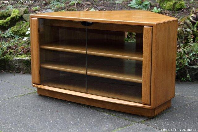 Image 58 of ERCOL WINDSOR LIGHT ELM CORNER TV CABINET STAND TABLE UNIT