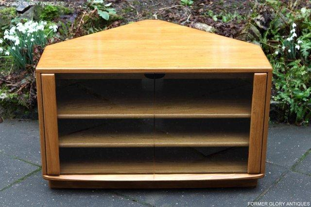 Image 61 of ERCOL WINDSOR LIGHT ELM CORNER TV CABINET STAND TABLE UNIT