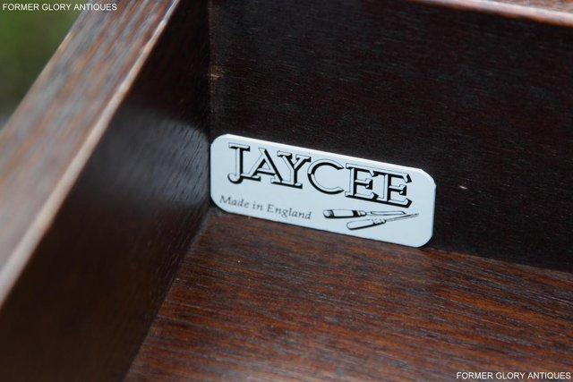 Image 5 of A JAYCEE OLD CHARM OAK COMPUTER PEDESTAL WRITING TABLE DESK