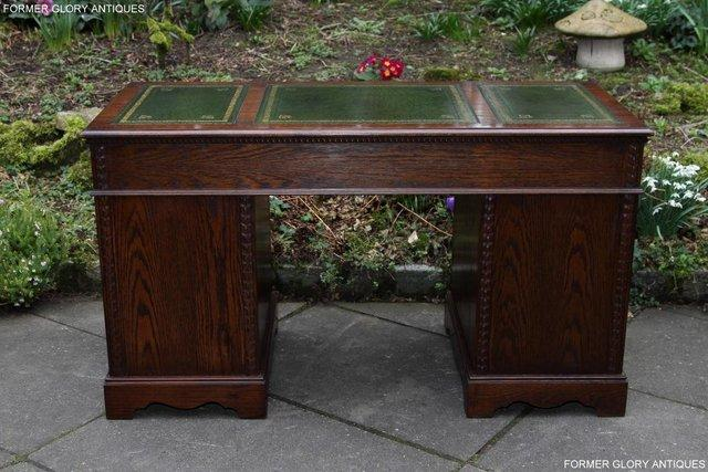 Image 32 of A JAYCEE OLD CHARM OAK COMPUTER PEDESTAL WRITING TABLE DESK