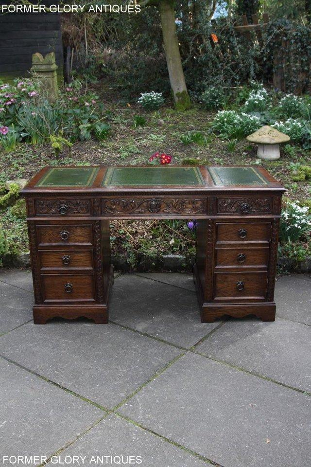 Image 36 of A JAYCEE OLD CHARM OAK COMPUTER PEDESTAL WRITING TABLE DESK