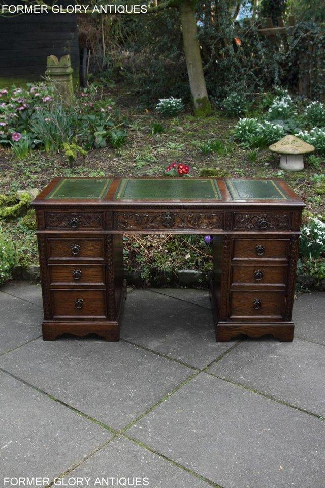 Image 57 of A JAYCEE OLD CHARM OAK COMPUTER PEDESTAL WRITING TABLE DESK