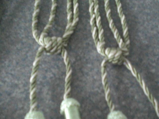 Preview of the first image of Curtain Tie Backs with tassels (Green and New).