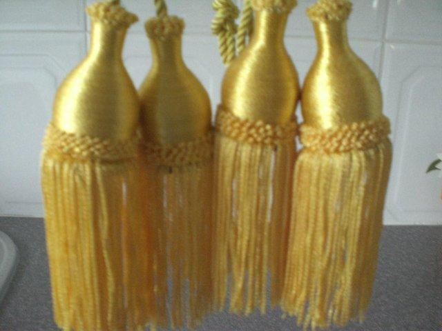 Image 2 of Curtain Tie Backs with tassels (New)