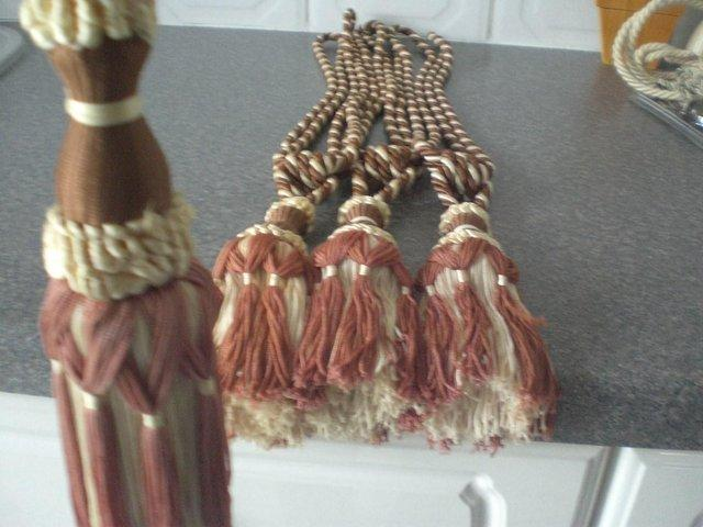 Image 3 of Curtain Tie Backs with tassels (New)
