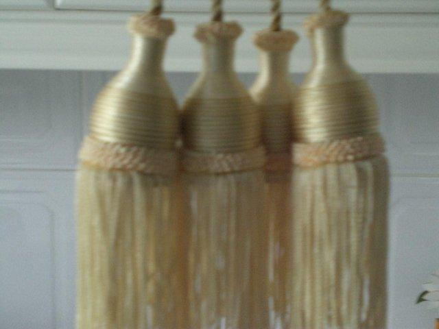 Preview of the first image of Curtain Tie Backs with tassels (New.