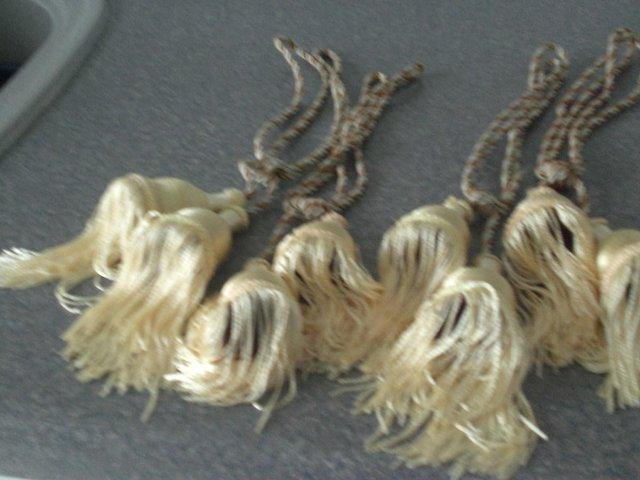 Image 3 of Curtain Tie Backs with tassels (New