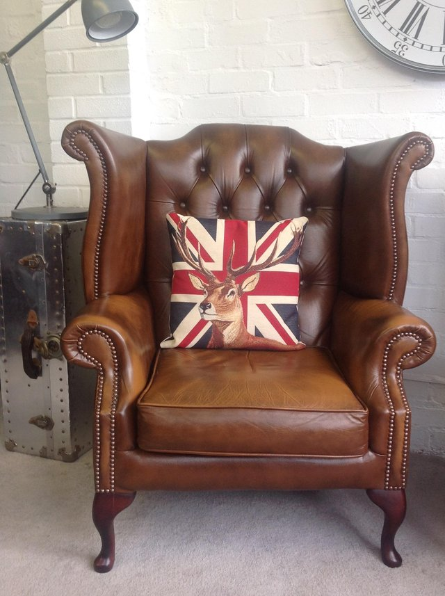 Image 4 of Chesterfield armchairs. Queen Anne & club style. Can deliver
