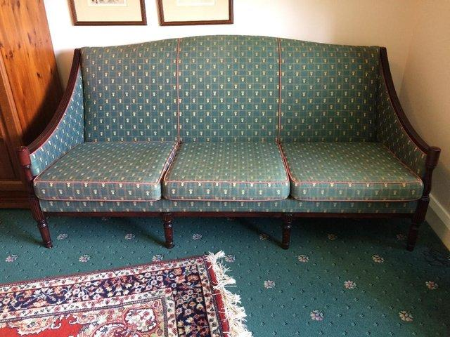 Image 2 of 3 seater antique-style sofa
