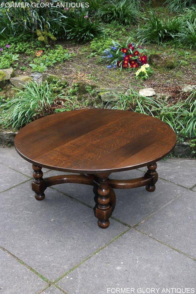 Image 4 of TITCHMARSH AND GOODWIN OAK COFFEE PHONE LAMP ARMCHAIR TABLE