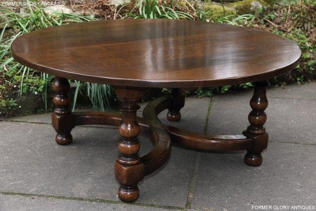 Image 7 of TITCHMARSH AND GOODWIN OAK COFFEE PHONE LAMP ARMCHAIR TABLE