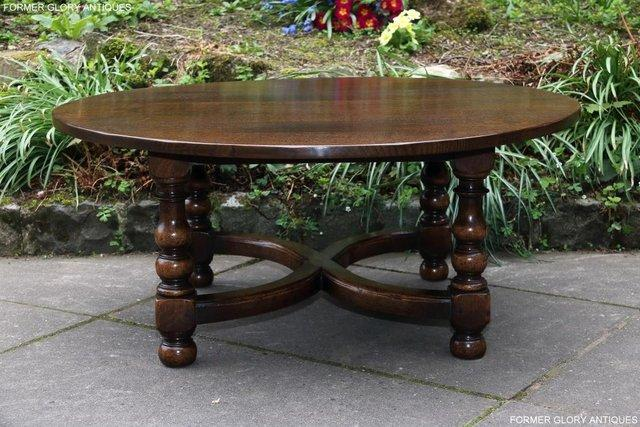 Image 16 of TITCHMARSH AND GOODWIN OAK COFFEE PHONE LAMP ARMCHAIR TABLE
