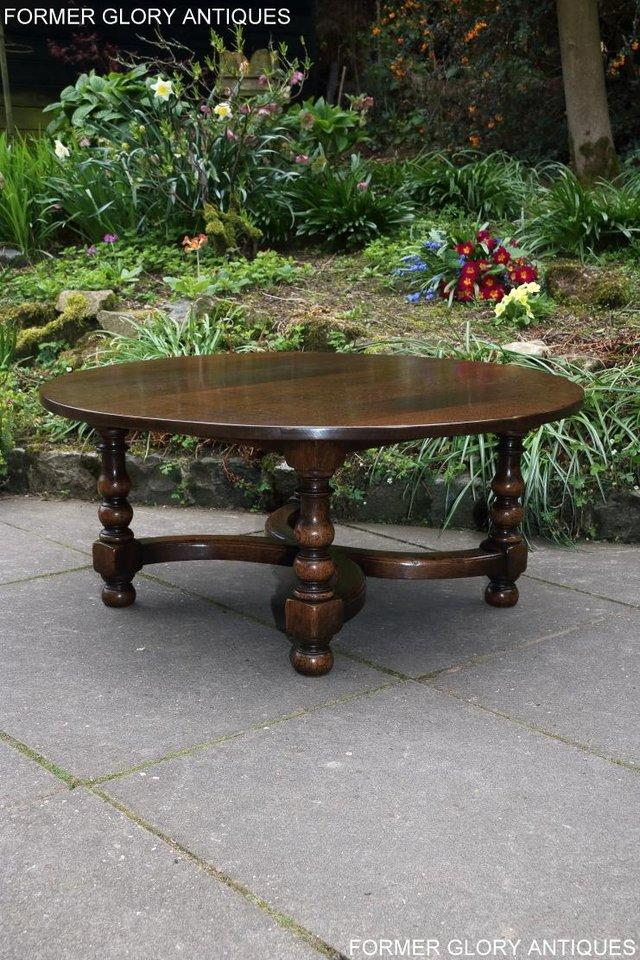Image 22 of TITCHMARSH AND GOODWIN OAK COFFEE PHONE LAMP ARMCHAIR TABLE