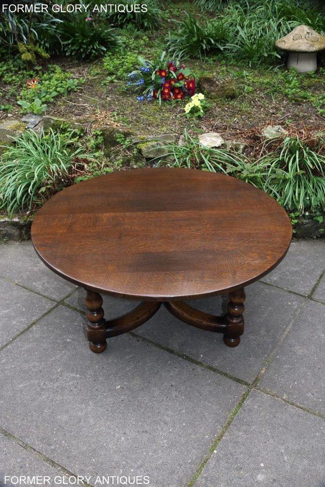 Image 30 of TITCHMARSH AND GOODWIN OAK COFFEE PHONE LAMP ARMCHAIR TABLE