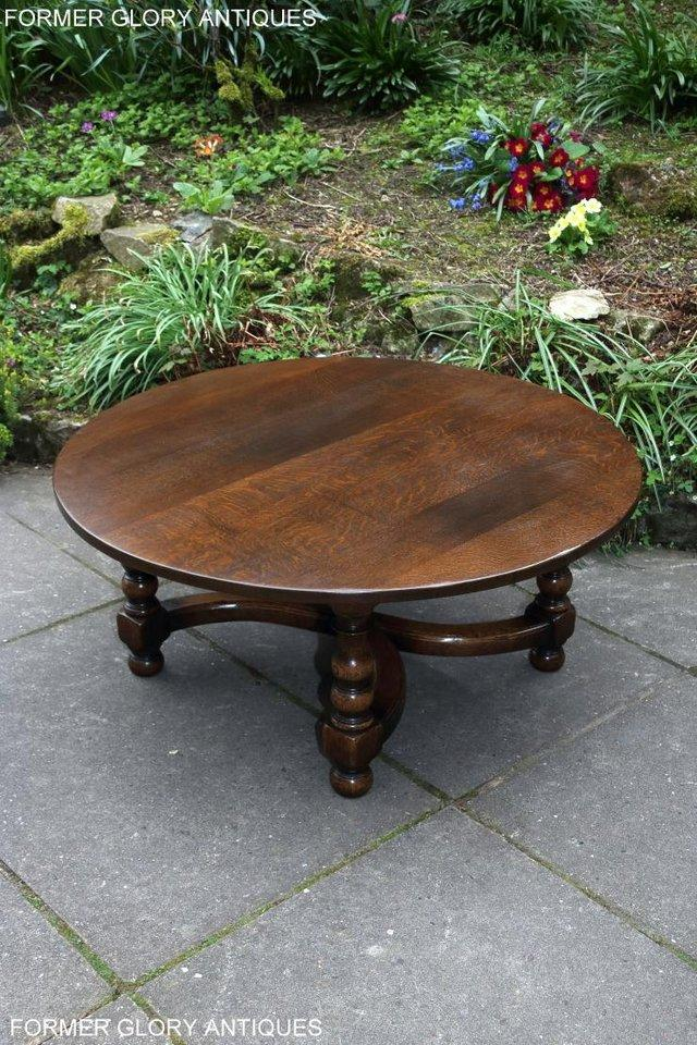 Image 33 of TITCHMARSH AND GOODWIN OAK COFFEE PHONE LAMP ARMCHAIR TABLE