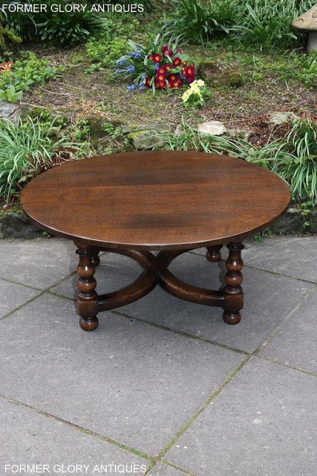 Image 38 of TITCHMARSH AND GOODWIN OAK COFFEE PHONE LAMP ARMCHAIR TABLE