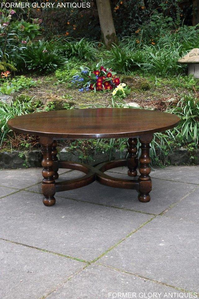 Image 55 of TITCHMARSH AND GOODWIN OAK COFFEE PHONE LAMP ARMCHAIR TABLE